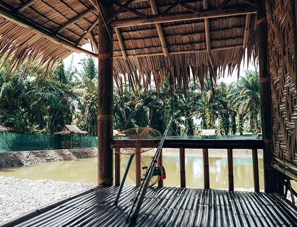 bamboo hut krabi fishing
